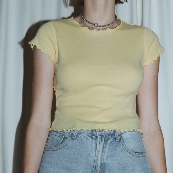 4a323765fae Brandy Melville Tops - Brandy Melville Yellow Wynn Top🌟🌼⚡ ✨